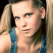 Attractive portrait teen girl — Stock Photo