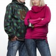 Stock Photo: Hip-hop young couple