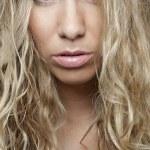 Sensual blond girl portrait — Stock Photo