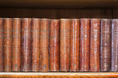 Shelf of old books — Stock Photo