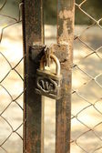 Lock on the door — Stock Photo