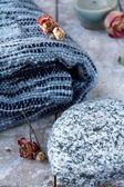 Plaid blanket — Stock Photo