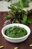Italian pesto sauce — Stock Photo
