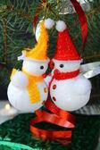 Christmas tree with Christmas decorations — Stock Photo