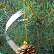 Christmas tree with Christmas decorations — Stockfoto