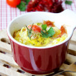Omelette in a cup - Stock Photo