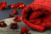 Red towel — Stock Photo