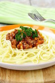 Spaghetti on a plate — Stock Photo