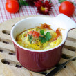 Omelette in a cup — Stock Photo