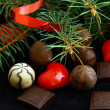 Stock Photo: Chocolates for Christmas