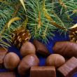 Chocolates for Christmas — Stock Photo