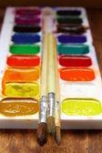 Pinturas de acuarela caja para dibujar — Foto de Stock