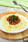 Spaghetti on a plate — Stock Photo