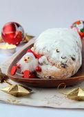 Fruitcake for Christmas — Stock Photo