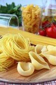 Different varieties of Italian pasta — Stock Photo