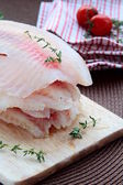 Fresh fillets of fish — Stock Photo