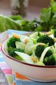 Salad of broccoli with walnuts — Stock Photo