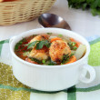 Soup with meatballs and vegetables — Stock Photo #4527531
