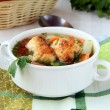 Soup with meatballs and vegetables — Stock Photo