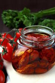 Italian sun-dried tomatoes in olive oil — Stock Photo