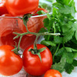 Cherry tomatoes and parsley — Stock Photo