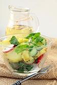 Potato salad with cucumber and radish — Stock Photo