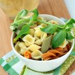 Pasta with Italian pesto sauce — Stock Photo