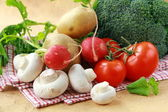 Healthy Vegetables and Olive Oil — Stock Photo