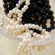 White and black pearls - Stock fotografie