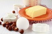 Basic baking ingredients — Stock Photo