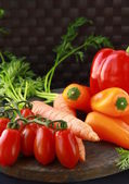 Different fresh vegetables on the table — Stock Photo