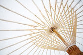 Japanese white umbrella — Stock Photo