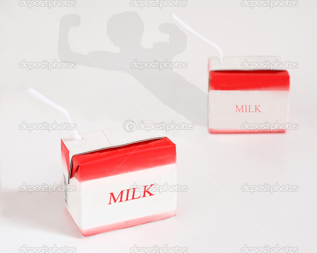Is symbol of power when drink milk everyday.  Stock Photo #4536994