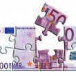 Stock Photo: 500 euro banknote puzzle