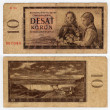 Vintage czechoslovakian banknote from 1960 — Stock Photo