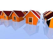 3d real estate concept — Stock Photo