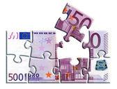 500 euro banknote puzzle — Stock Photo