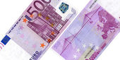 Five hundred euro banknotes — Foto Stock