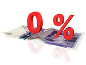 Percentuale su una banconota da venti libbre — Foto Stock