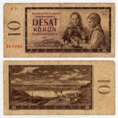 Banconota cecoslovacco d'epoca dal 1960 — Foto Stock