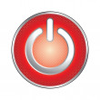 Red power button icon — Imagen vectorial
