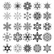 Vector snowflake collection — Stock vektor