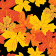 Autumn leaves pattern - Stock Vector