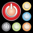 Power button icon set — Stock Vector