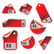 Sticker set with barcodes — Stock Vector #5291558