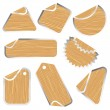 Royalty-Free Stock Vector Image: Blank wooden stickers