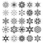 Vector snowflake collection — Stock Vector