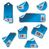 Sticker set with barcodes — Stock Vector