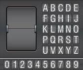 Mechanische scorebord — Stockvector