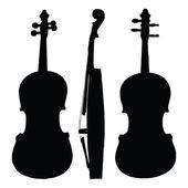 Old violin silhouette sides — Stockvector